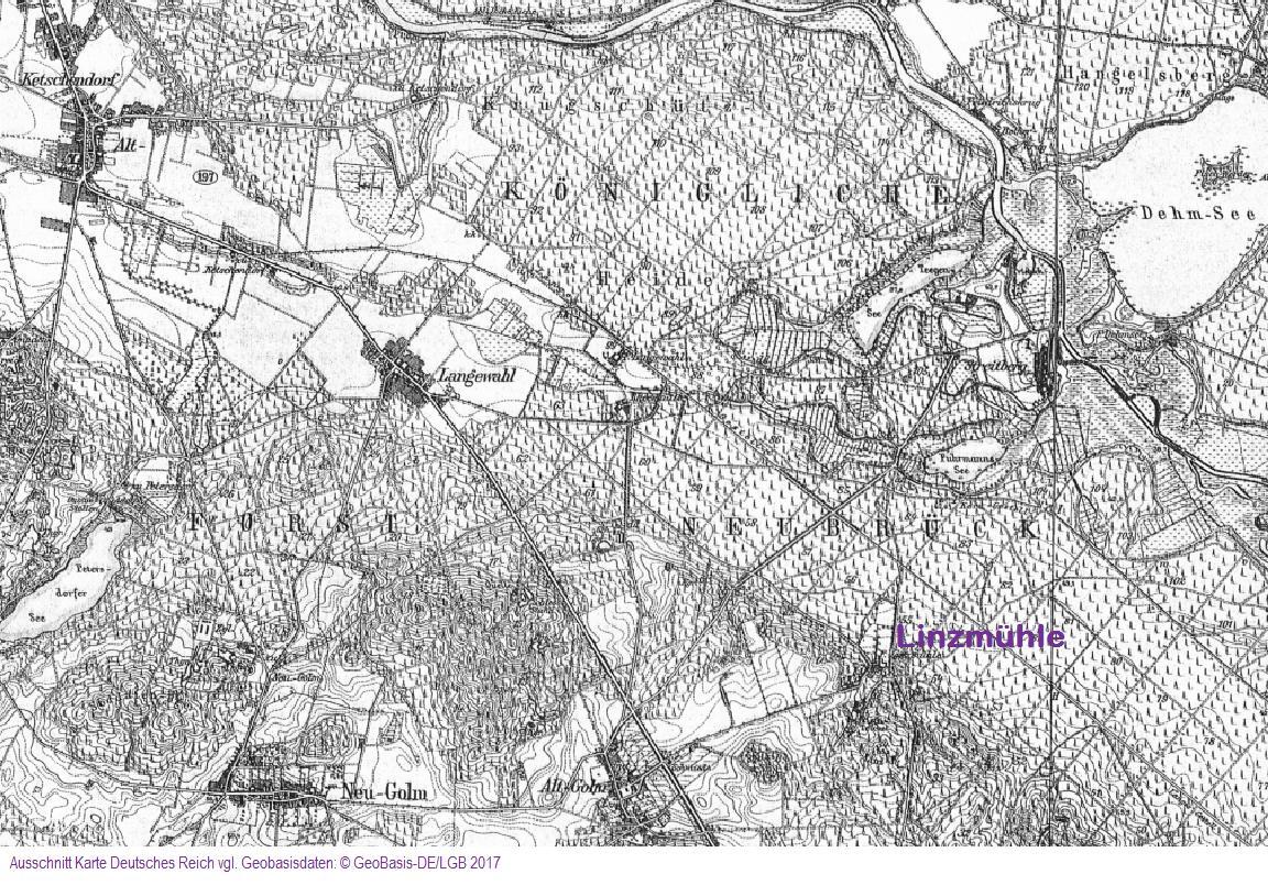 Scan Karte Deutsches Reich